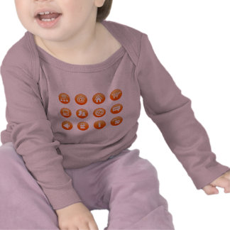 Orange Hot Keys Tee Shirts