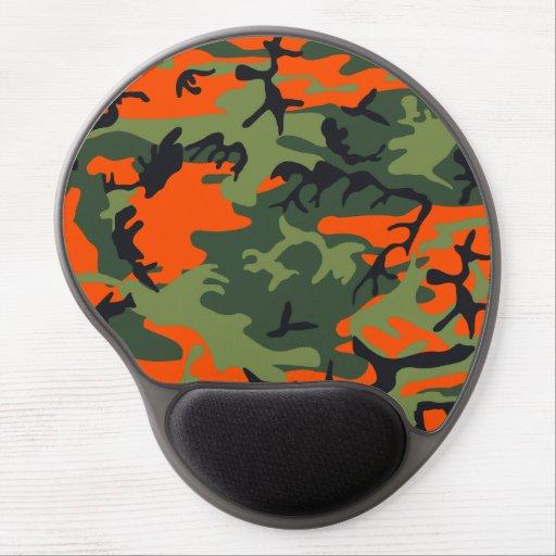 Orange Hunter Camo Gel Mousepads