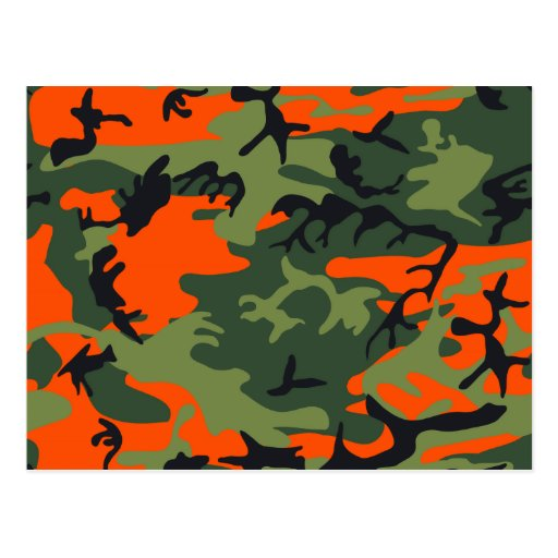 Orange Hunter Camo Post Card