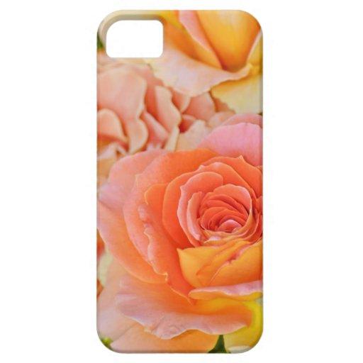 Orange hybrid tea rose iPhone 5 case
