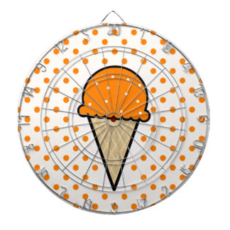 Orange Ice Cream Cone Dartboards