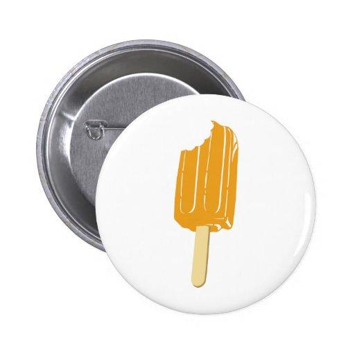 Orange Ice Cream on a Stick Buttons