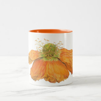 Orange Icelandic Poppy Mug 11 oz. 2 Tone