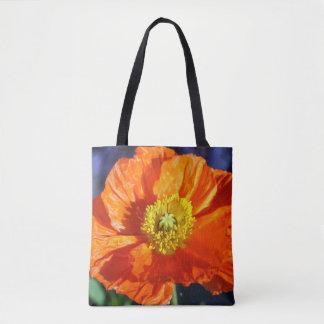 Orange Icelandic Poppy Tote Bag
