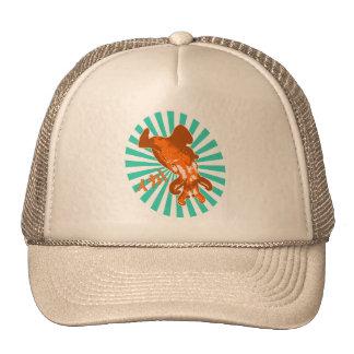 Orange Ika Mesh Hat