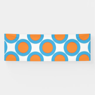 Orange In Blue Dot Banner