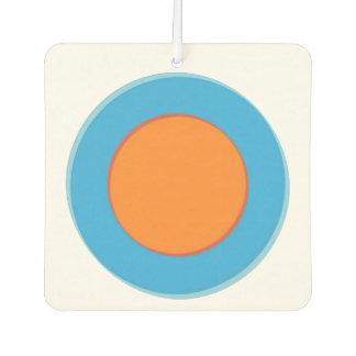 Orange In Blue Dot Car Air Freshener