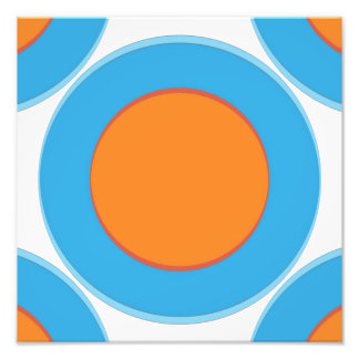 Orange In Blue Dot Photo Print