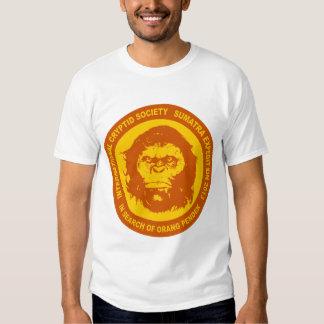 Orange IN SEARCH OF ORANG PENDEK - Sumatra Bigfoot Tee Shirt