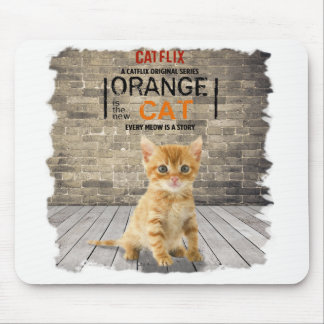 Orange is The New Cat Mousepad