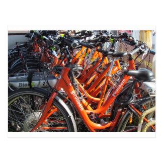 Orange Italian Touring Bicycles Postcard
