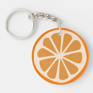 Orange J Key Ring