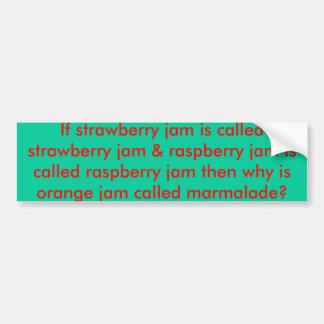 Orange Jam Bumper Sticker