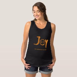 "Orange joy kanji inside enso zen circle ""Joy"" Maternity Singlet"