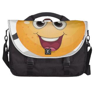 Orange juice laptop computer bag