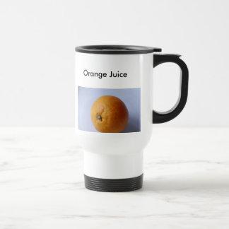 Orange Juice, Orange Juice Stainless Steel Travel Mug