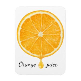 Orange juice rectangular photo magnet