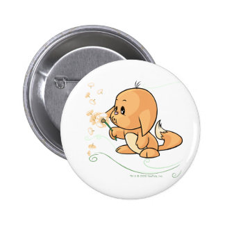 Orange Kacheek wishing on a dandelion 6 Cm Round Badge