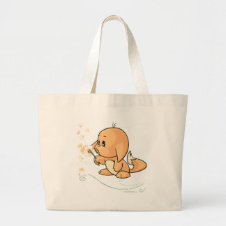 Orange Kacheek wishing on a dandelion Jumbo Tote Bag