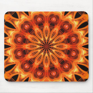 Orange Kaleidoscope 05 Mouse Pads
