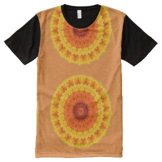 Orange Kaleidoscope All-Over Print T-Shirt
