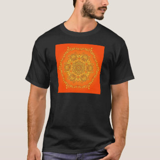 Orange Kaleidoscope: Hexagonal Artwork: T-Shirt