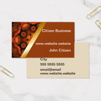 Orange kaleidoscope with brown business card 8