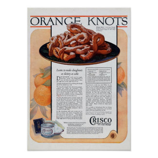 Orange Knots Poster