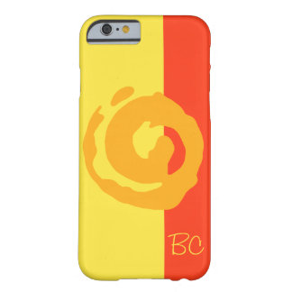 Orange Koru Symbol on Yellow and Red Background Barely There iPhone 6 Case