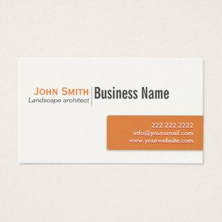 Orange Label Landscape Architect Business Card