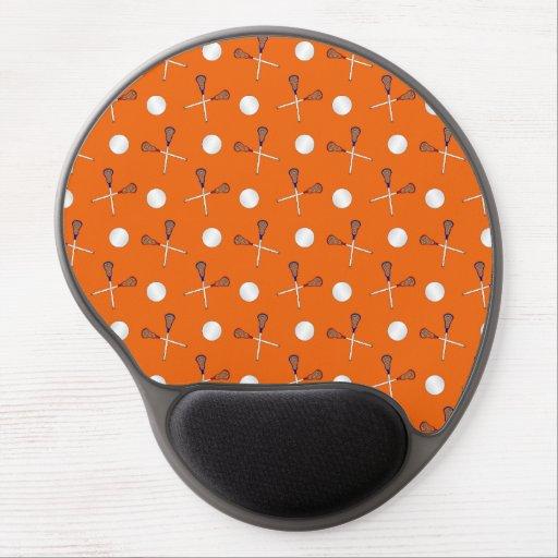 Orange lacrosse pattern gel mouse mat