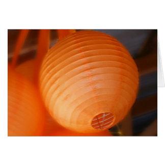 Orange Lantern Greeting Card