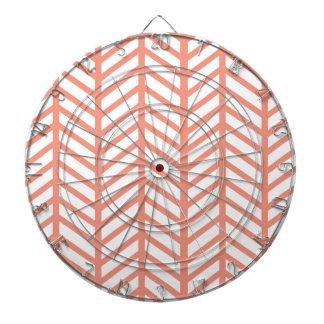 Orange Lattice Weave Dartboard