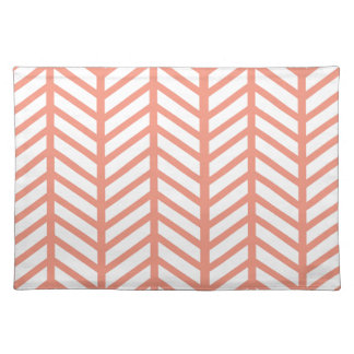 Orange Lattice Weave Placemat