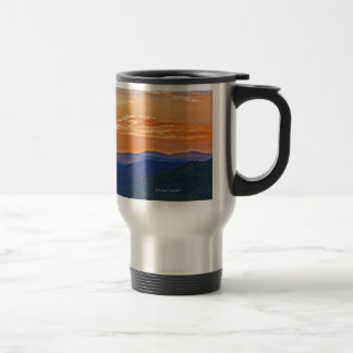 orange layers stainless steel travel mug
