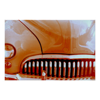 Orange Lead Sled Poster