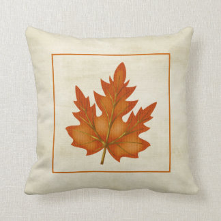 Orange Leaf Fall Season Themed Pillow Design 2