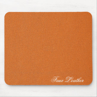 Orange Leather Look Mouse Pad
