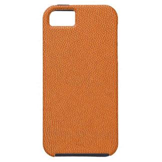 Orange Leather Look Tough iPhone 5 Case