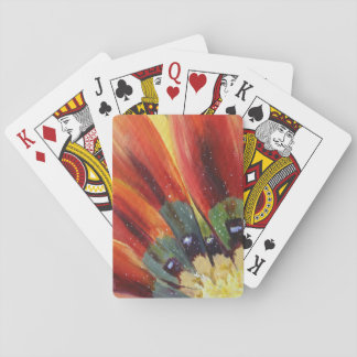 Orange Leaves Floral Detail Classic Playing Cards