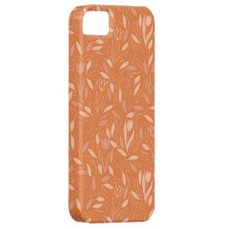 Orange Leaves Flower Pattern iPhone 5 Cover
