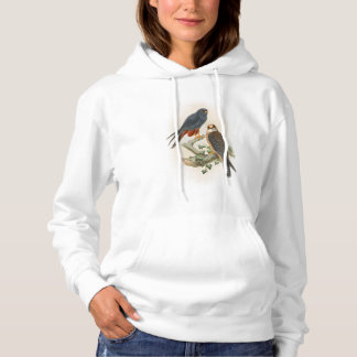Orange-legged Hobby Falcon Gould Birds of Britain Hoodie