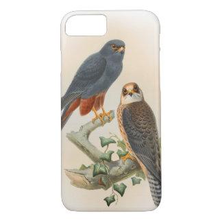 Orange-legged Hobby Falcon Gould Birds of Britain iPhone 7 Case