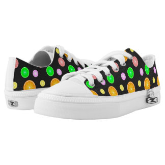 Orange lemon lime grapefruit summer party pattern low tops
