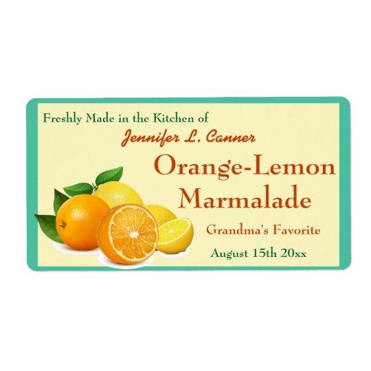 Orange Lemon Marmalade Preserves Canning Jar