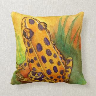 Orange Leopard Frog Throw Pillow