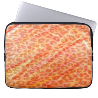 Orange Leopard Print Skin Laptop Sleeves