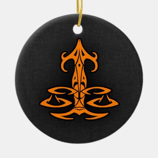 Orange Libra Ornaments
