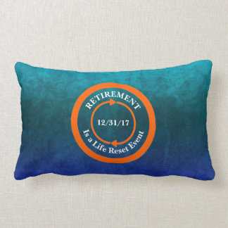 Orange Life Reset Icon Retirement Date Lumbar Cushion