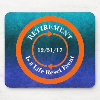 Orange Life Reset Icon Retirement Date Mouse Pad